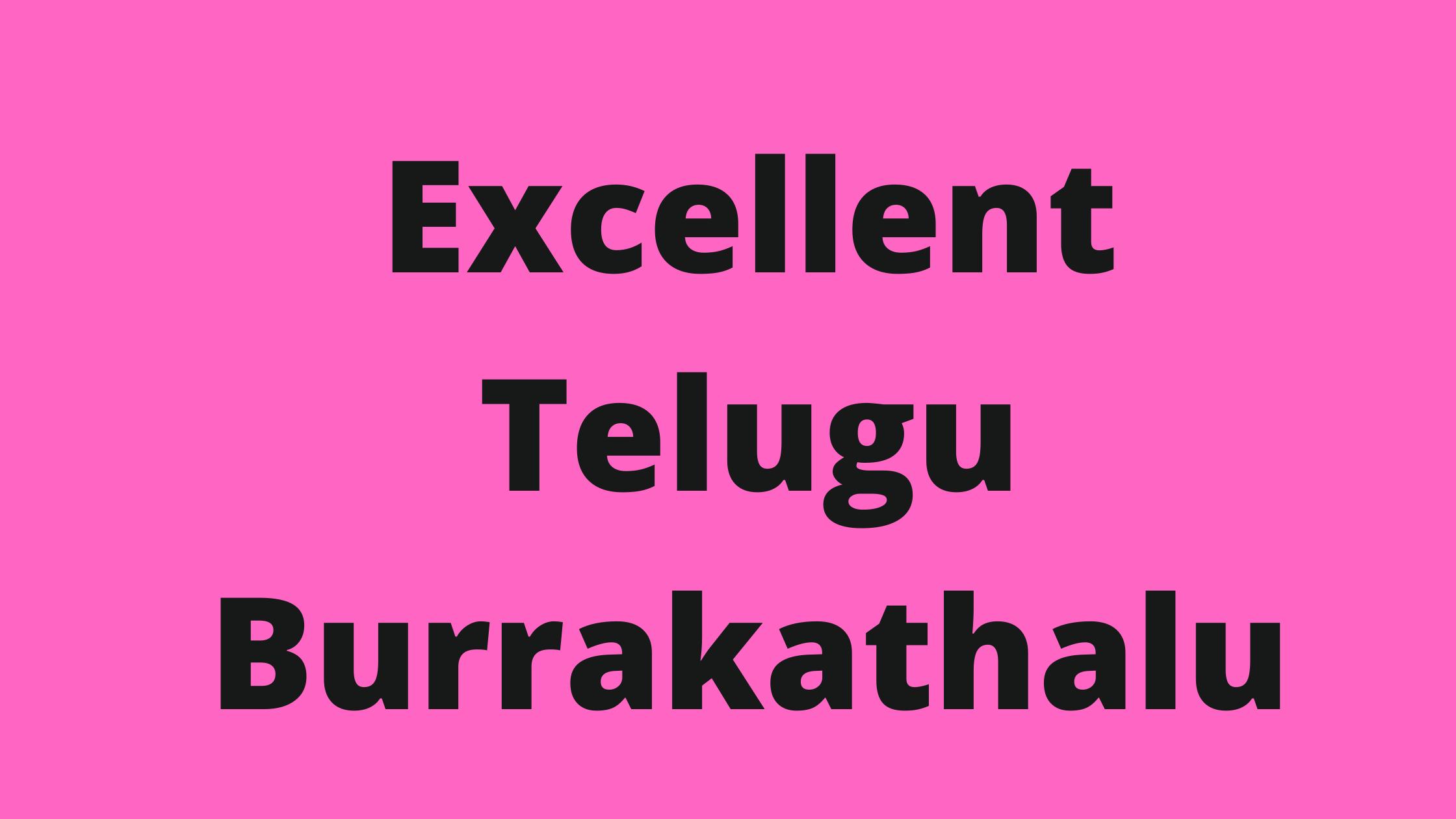 Excellent Telugu burra kathalu | Burrakathalu